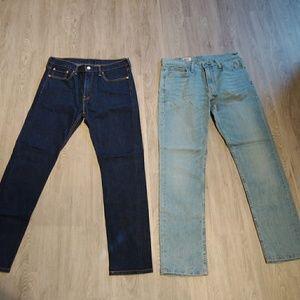 Men's skinny Levi's denim jeans